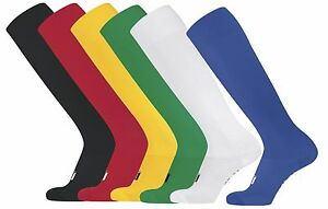 GREEN RED BLACK WHITE BLUE YELLOW Long Soccer Football Rugby Socks Sizes 30-44