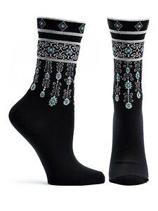 Women-039-s-Ladies-Novelty-Socks-Bejeweled-in-2-colors