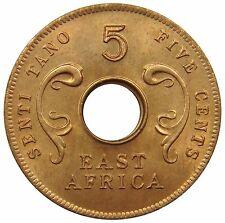(M2) - Ostafrika East Africa - 5 Cents 1964 - Elephantenstoßzähne -  KM# 39