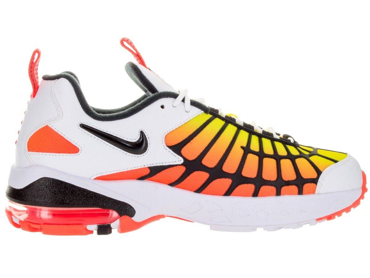 Dimensione 10 / 12 nike air max 120 uomini scarpe 819857 100 bianco arancione nero