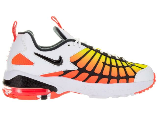 Size 10 / 12 Nike Men Air Max 120 Shoes 819857 100 White Orange Black