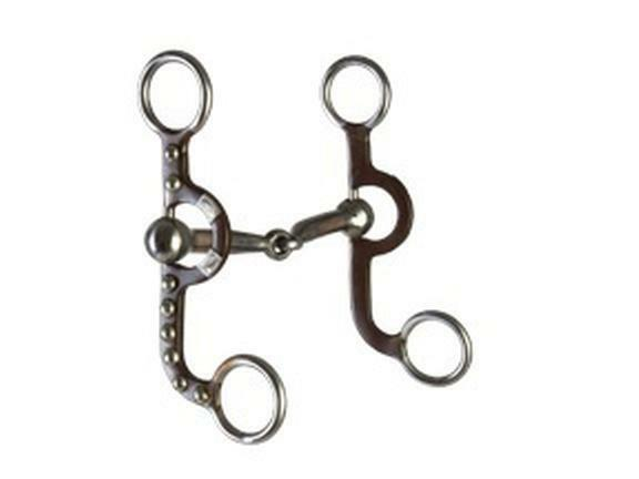 """TOUGH 1 5/"""" ABR  ARGENTINE SNAFFLE WITH COPPER INLAY BIT NEW HORSE TACK EQUINE"""