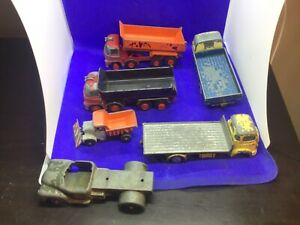 Vintage Dinky Die cast Goods vehicles tipper trucks snow plow job lot