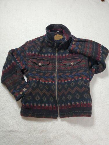 Vtg Woolrich Wool Navajo Coat Womens XL Southweste
