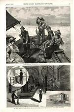 Blue Fishing off New Jersey Coast  -  Cable Car of the East River Bridge  - 1883