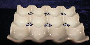 Blue Willow Ceramic 12 egg holder