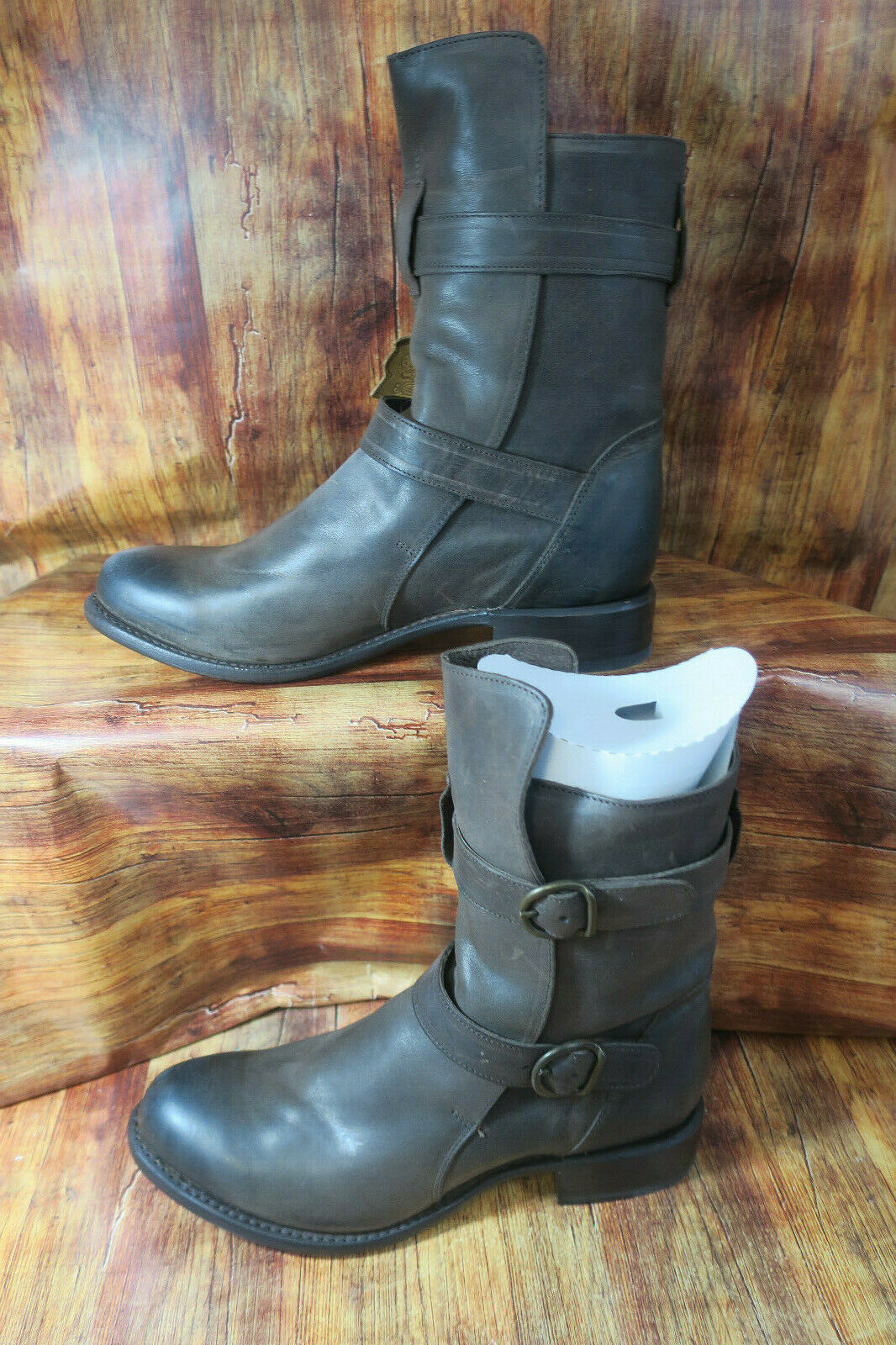 SN1300 SN1300 SN1300 Brooklyn Double Buckle Pull on Fashion Leather Boot By Sonora 10 B  1418 880658