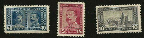 Assassinat De L'archiduc Ferdinand Comme Neuf Occupé La Bosnie Timbres Outbreak Of World War One