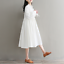 Womens-A-Line-Pleated-Cotton-Linen-Shirt-Dress-Thin-Long-Sleeve-Dress-Casual-New thumbnail 2