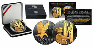 2011-SEPTEMBER-11-NATIONAL-MEDAL-1oz-Silver-Proof-Coin-BLACK-RUTHENIUM-Gold-Clad