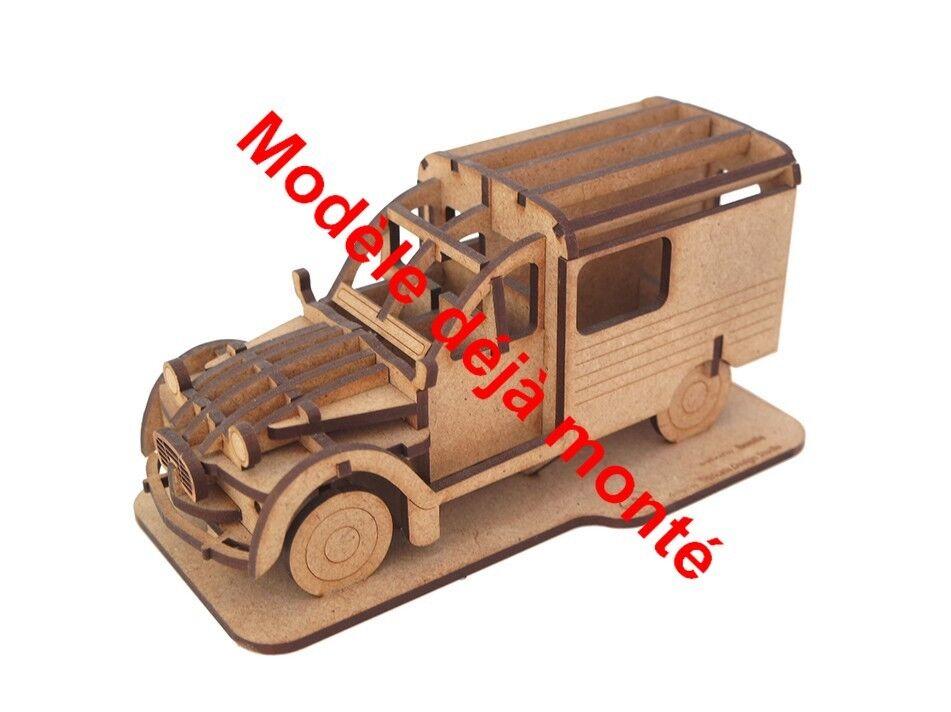 Citroen 2CV kit en bois modèle déjà monté Suricata