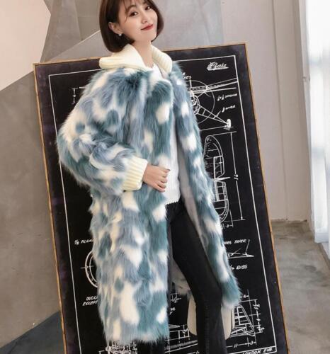Parka plein à renard pardessus de Faux long hiver air pois femmes manteau manteau fourrure 8wFvvqg1H