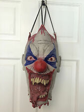 Spirit Halloween ~ Hanging Severed Clown Head Scary Evil Carnival Circus Clown