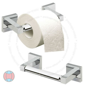 Wall-Mounted-Square-Polished-Shine-Chrome-Bathroom-Bar-Toilet-Roll-Holder-DCUK