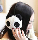 FD3639 Women Girl Earmuffs Fluffy Fur Plush Panda Cartoon Winter Ear Warm Cute ♫