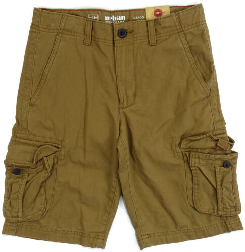 Boys Urban Pipeline Messenger Cargo Shorts Twill Adjustable Waistband