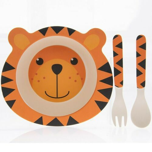 Bambou Eco bébé bol cuillère Fork Set Tiger