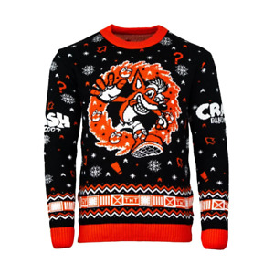 Numskull Crash Bandicoot N.Sanity Christmas / Ugly Sweater Large NEW