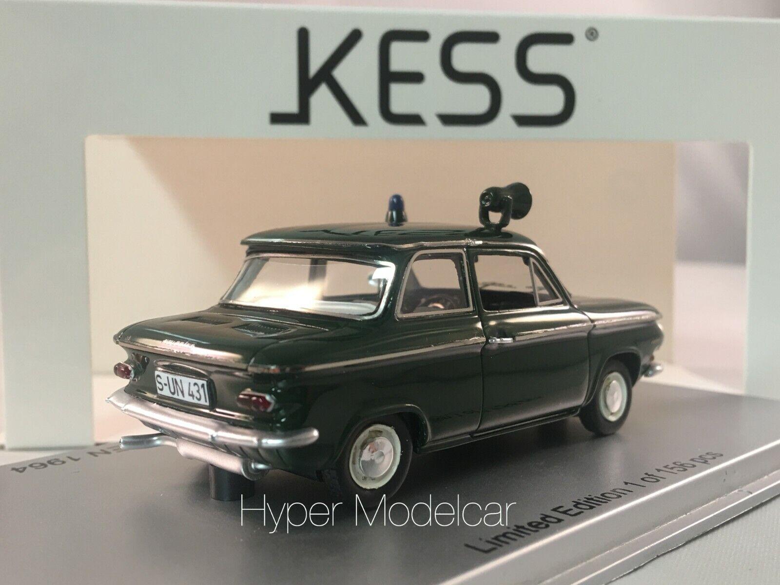 KESS MODEL 1 43 NSU PRINZ 4 4 4 POLIZEI STREIFENWAGEN 1964 ART. KE43023001 34dfb1