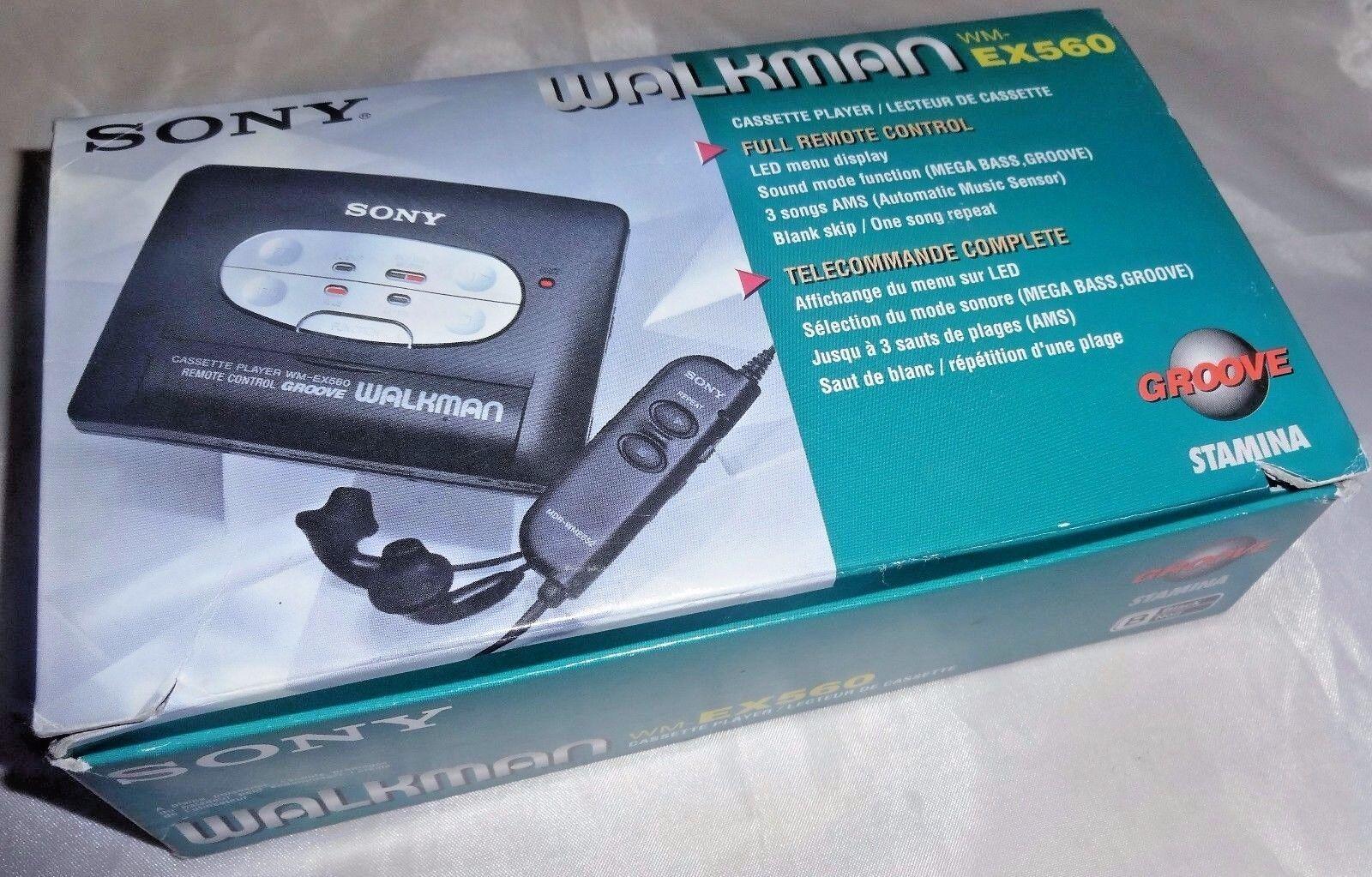 Sony Vintage Walkman Wm-ex560 Cassette Player Belt Fitted Sound