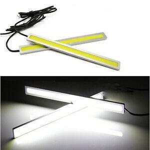 2-Super-Bright-White-Car-COB-LED-Lights-DRL-Fog-Driving-Lamp-Waterproof-DC-12V