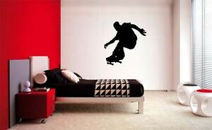 SKATER-SKATEBOARD-BOYS-KID-WALL-ART-BEDROOM-VINYL-DECAL