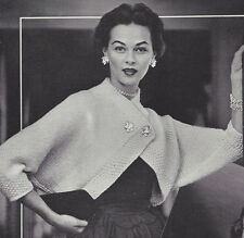 Vintage Knitting PATTERN to make Shrug Top Jacket Prom Formal Cover 50s UniqueSh