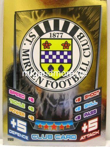 Mirren-club Card Match ATTAX 2012//13 spl-scottish premier league #199 st