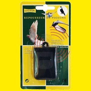 anti nuisibles repousseur ultrasons pigeons oiseaux chauve souris lucifer ebay. Black Bedroom Furniture Sets. Home Design Ideas