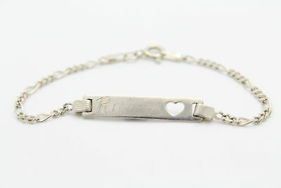 """925 Sterling Silver 5.5/"""" Baby Identity Bracelet Personalised Engraved Name"""