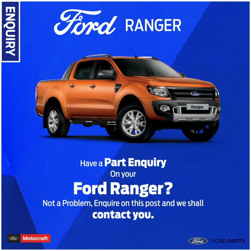 Part Enquiry on your Ford Ranger?