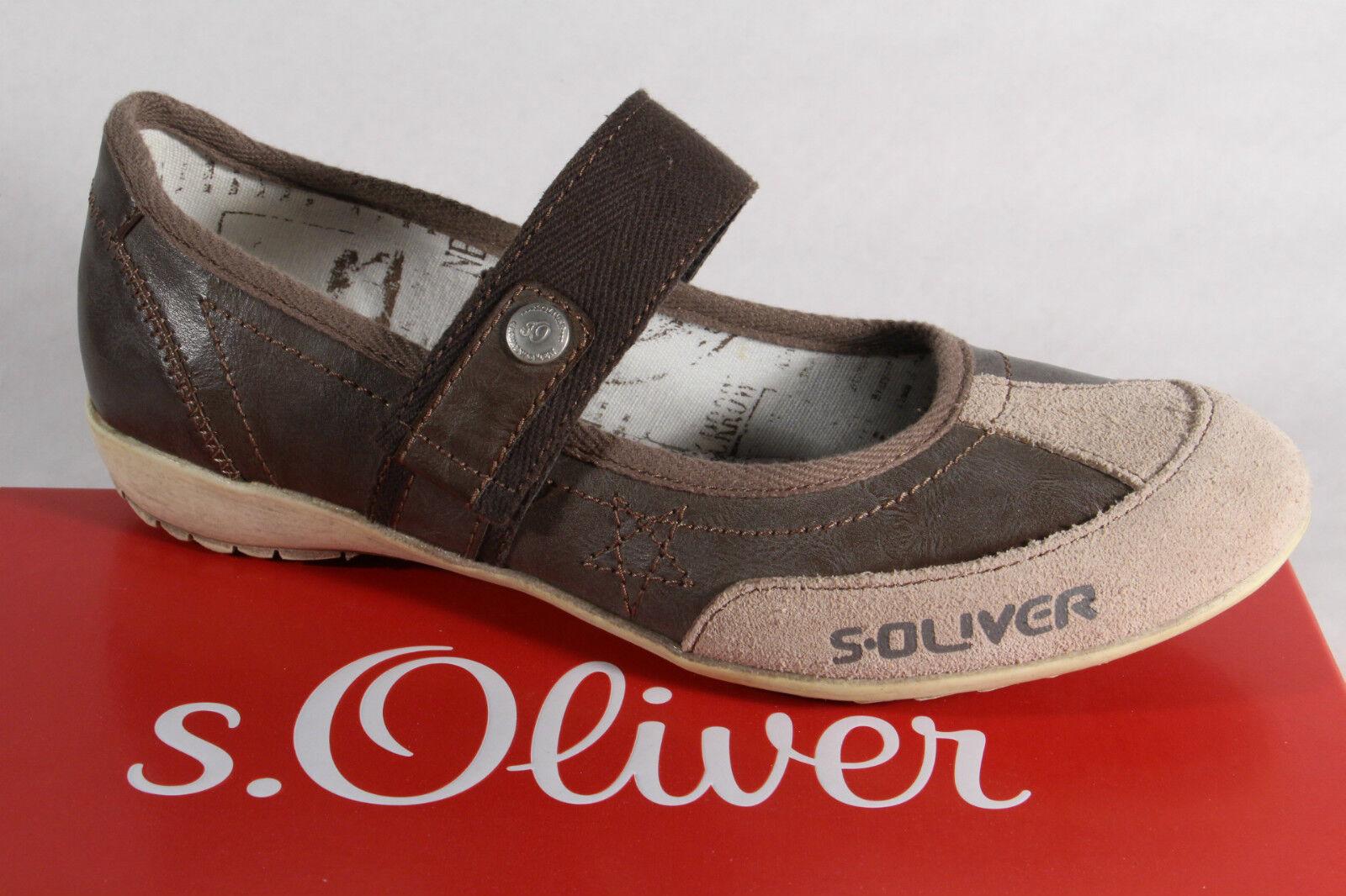 S.Oliver Ballerine Mocassins Chaussures Basses Femme Marron Beige Neuf