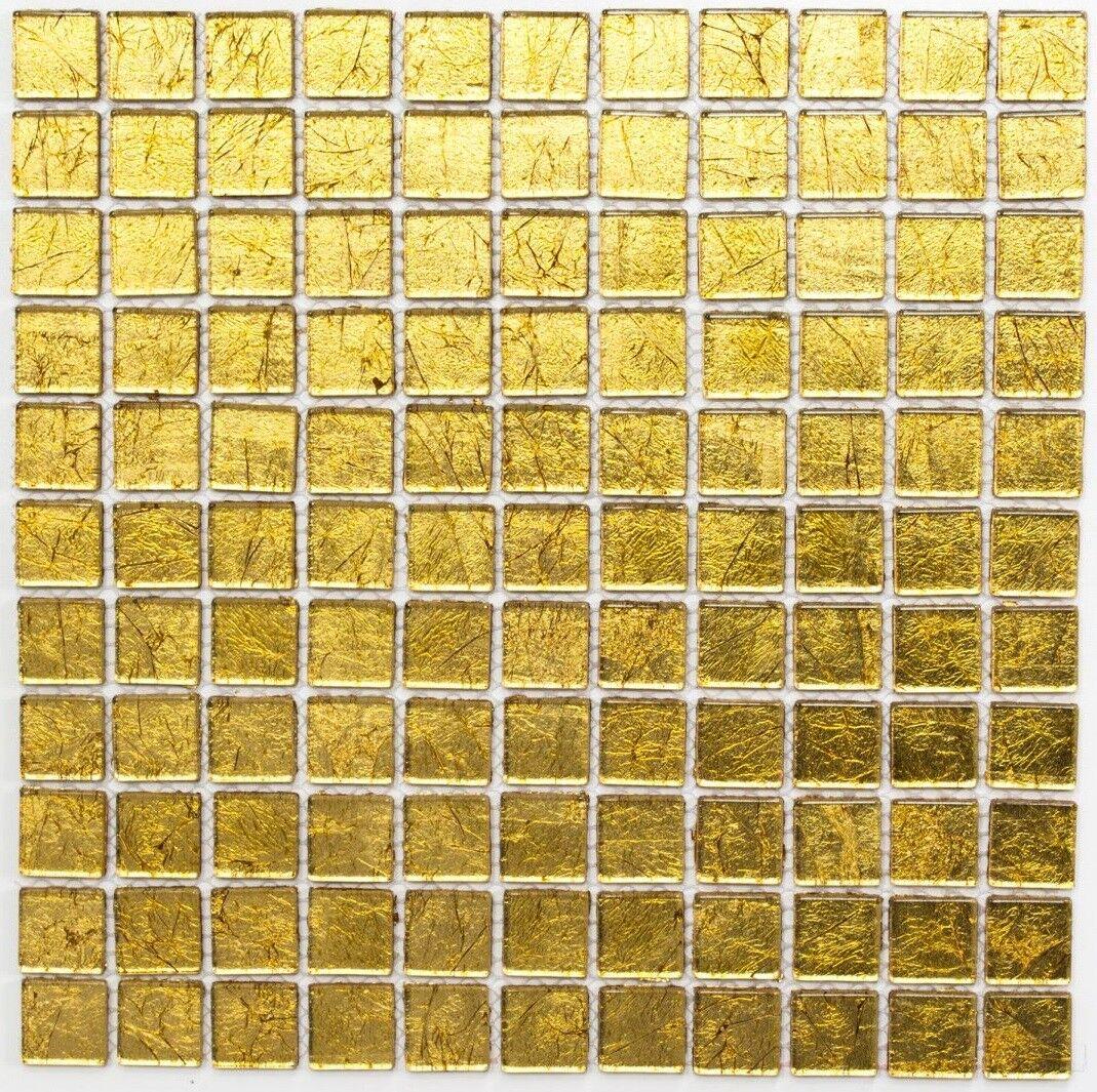 Mosaïque carreau translucide crystal structure or cuisine 120-0742_f  10 plaques