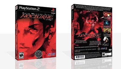 Analytisch Shin Megami Tensei: Nocturne Ps2 Replacement Game Case Box + Cover Art (no Game) Lekkernijen Geliefd Bij Iedereen
