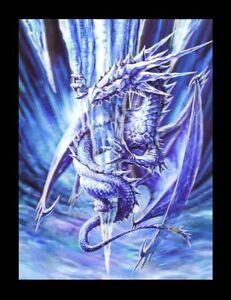 Imagen-3d-bild-Anne-Stokes-Dragon-ICE-DRAGON-FANTASY-Poster-Impresion