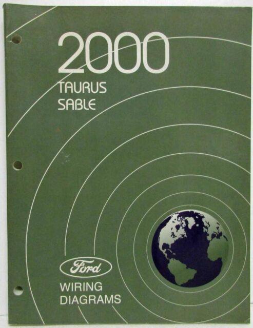 2000 Ford Taurus Mercury Sable Electrical Wiring Diagrams Manual