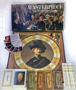 Vintage 1970 MASTERPIECE The Art Auction Board Game by Parker Brothers