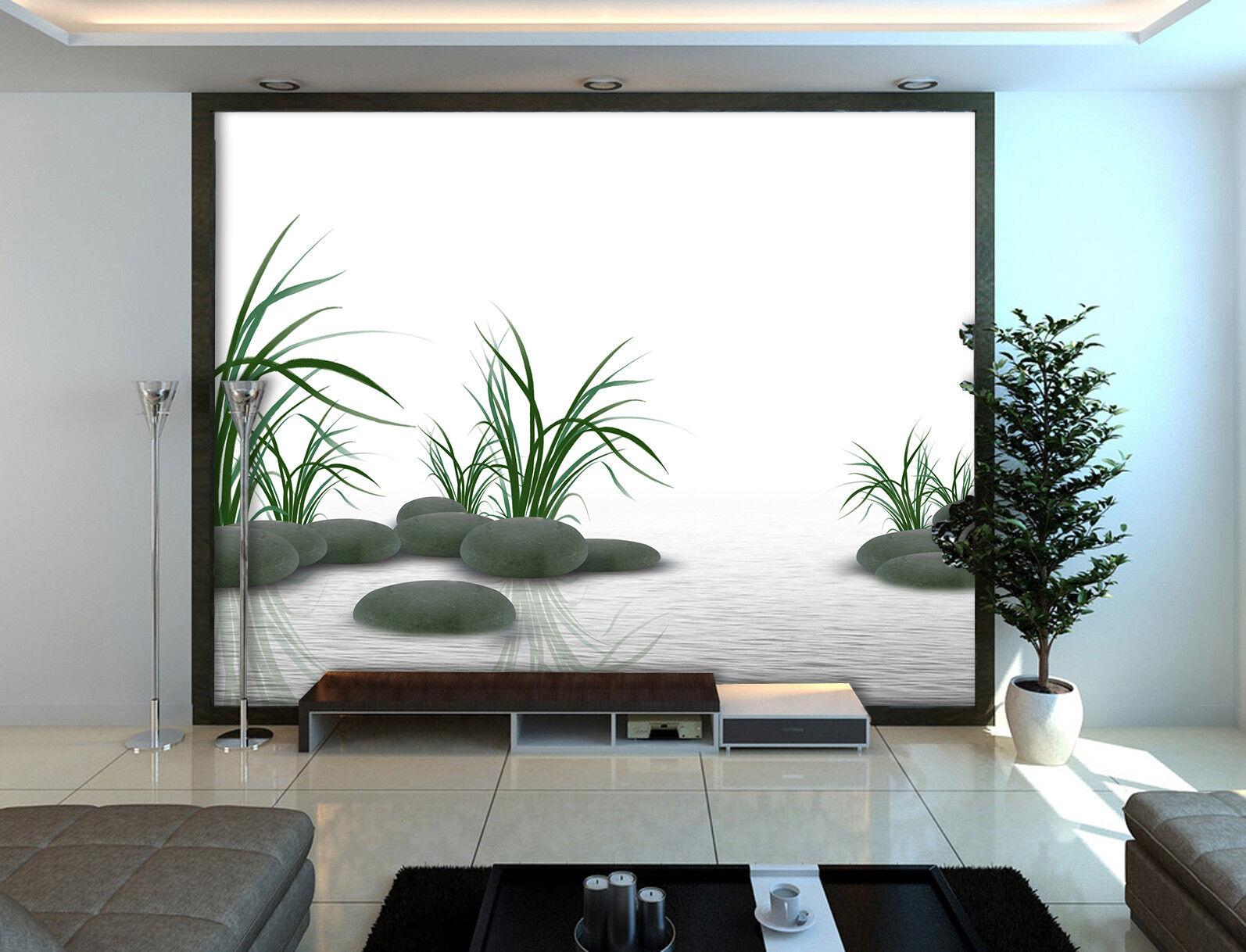 3D Plant Stone River 7 Wall Paper Murals Wall Print Wall Wallpaper Mural AU Kyra