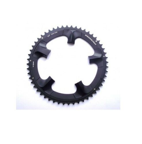 STRONGLIGHT CT2 CERAMIC TEFLON BLACK 130BCD mm SHIMANO ULTEGRA CHAINRING 52T