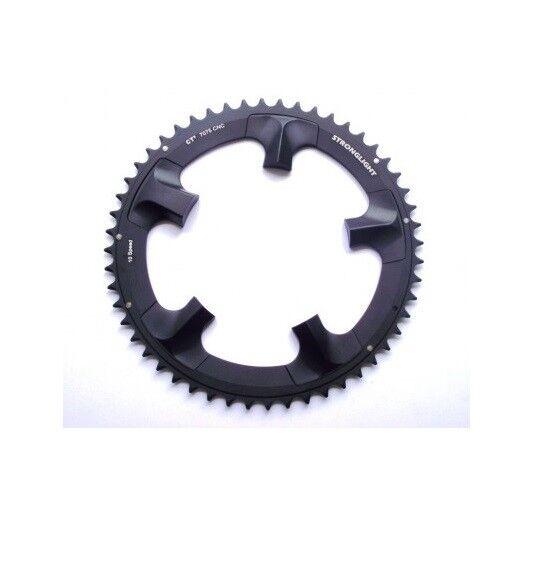 81efad5ba70 Stronglight Ct2 Ceramic Teflon Black 130bcd Mm Shimano Ultegra Chainring  52t | eBay
