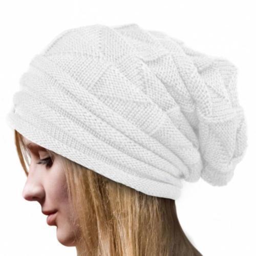 Women/'s Men/'s Unisex Knit Baggy Beanie Oversize Winter Hat Ski Slouchy Cap Skull