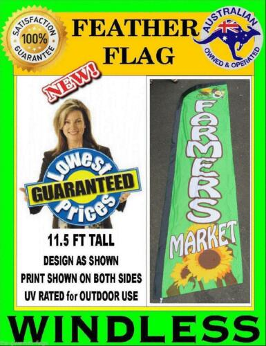 feather flag farmers market banner for POS shop business WINDLESS