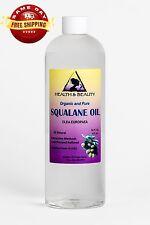 SQUALANE OIL ORGANIC OLIVE-DERIVED ANTI-AGING MOISTURIZER COLD PRESS PURE 48 OZ