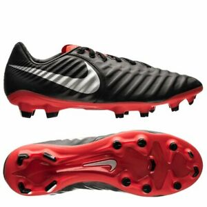 NEW-Nike-Legend-7-Pro-FG-Men-039-s-Soccer-Cleats-Black-Silver-Red-AH7241-006