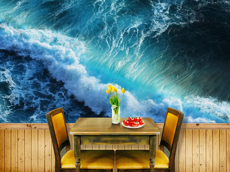 3D Sturm Meereswellen 7 Tapete Wandgemälde Tapete Tapeten Bild Familie DE Summer