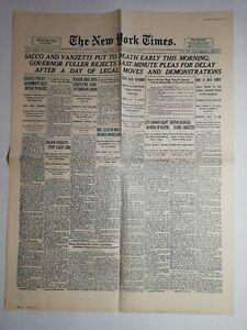 N1015-La-Une-Du-Journal-The-New-York-times-23-August-1927-Boston-Chaplin