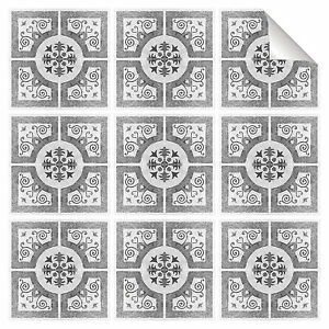 Black-Grey-Mosaic-Tile-Stickers-Transfers-Kitchen-Bathroom-All-Sizes-MS2A