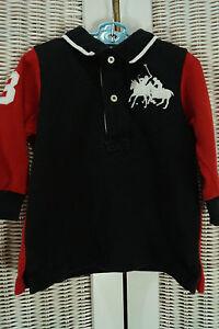 5c76c23309 POLO RALPH LAUREN T-Shirt 9 Mos. Dual Match Big Pony Two Polo ...