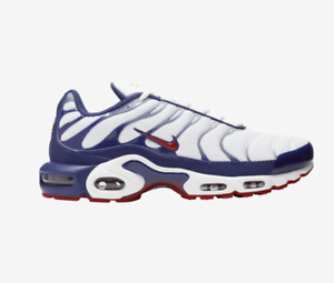 new products 9b535 2bd20 Details about New! Nike Air Max Plus TN Tuned Air J9928100 White/Gym Red |  Americana c1