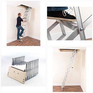 Alufix 9-Tread Concertina Loft Ladders - Ideal for Tiny attic Spaces UK SELLER